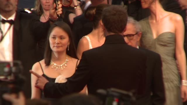soonyi previn and woody allen at the 2008 cannes film festival vicky cristina barcelona in cannes on may 17 2008 - soon yi previn stock videos & royalty-free footage