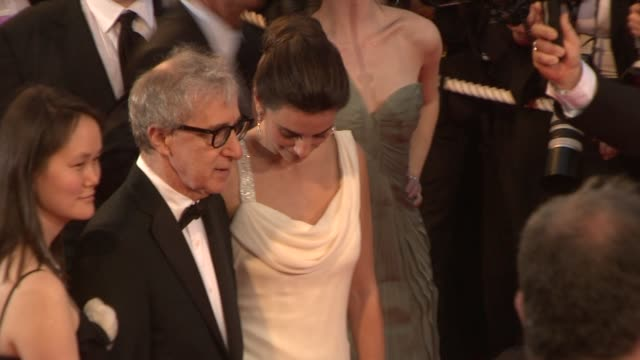 soonyi previn woody allen penelope cruz and rebecca hall at the 2008 cannes film festival vicky cristina barcelona in cannes on may 17 2008 - soon yi previn stock videos & royalty-free footage