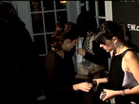 stockvideo's en b-roll-footage met sophia bush at the entertainment weekly's viewing party for 2006 academy awards at elaine's in new york, new york on march 5, 2006. - entertainment weekly