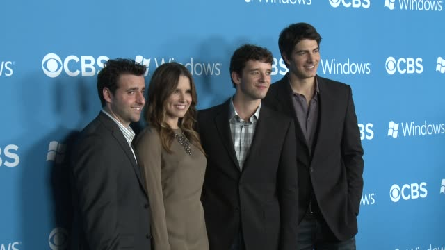 sophia bush david krumholtz michael urie brandon routh at cbs 2012 fall premiere party on 9/18/2012 in west hollywood ca - brandon routh bildbanksvideor och videomaterial från bakom kulisserna
