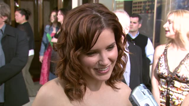 sophia bush on 'one tree hill' and on the dress she got at her friend's boutique at the '1408' world premiere at the national theater in westwood... - one tree hill stock videos and b-roll footage