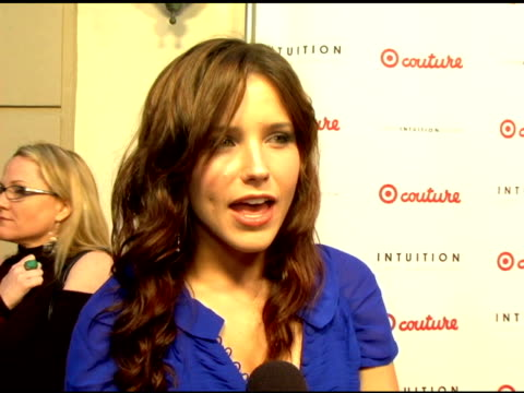 sophia bush on target target couture intuition on why target is so popular on what she loves about the concept of the line on what she's wearing at... - jaye hersh stock videos and b-roll footage