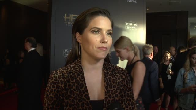 INTERVIEW Sophia Bush on the most exciting aspects of the Hollywood Film Awards at the 22nd Annual Hollywood Film Awards at The Beverly Hilton Hotel...