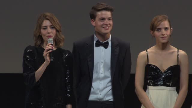 sophia coppola, israel broussard, emma watson, katie chang, taissa fariga and claire julien 'the bling ring' red carpet at palais des festivals on... - bling bling stock-videos und b-roll-filmmaterial