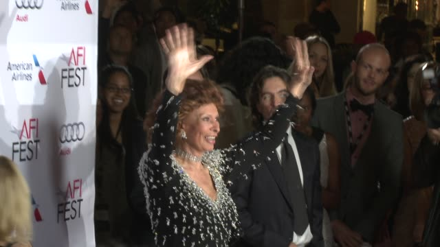 sophia loren at afi fest 2014 presented by audi - a special tribute to sophia loren at dolby theatre on november 12, 2014 in hollywood, california. - sophia loren stock videos & royalty-free footage