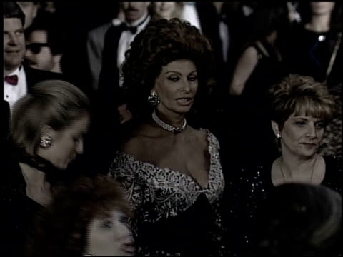 sophia loren at the 1993 academy awards at dorothy chandler pavilion in los angeles, california on march 29, 1993. - academy awards video stock e b–roll