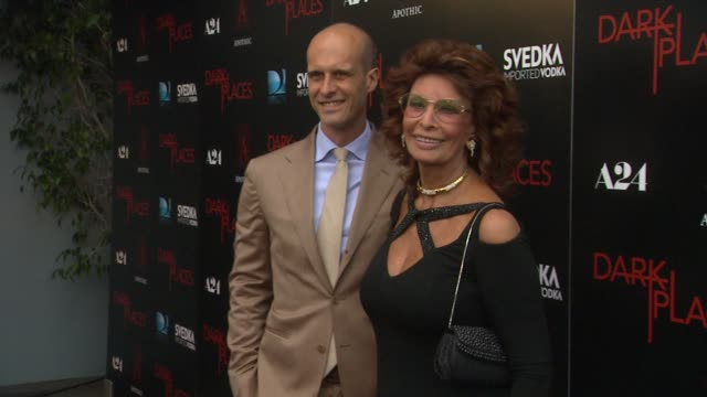 """sophia loren at the """"dark places"""" los angeles premiere at harmony gold theatre on july 21, 2015 in los angeles, california. - sophia loren stock videos & royalty-free footage"""