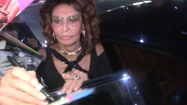 sophia loren & edoardo ponti at the dark places premiere in los angeles in celebrity sightings in los angeles, - sophia loren stock videos & royalty-free footage