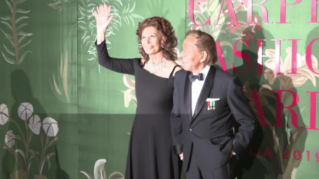 sophia loren, valentino garavani at green carpet fashion awards on september 22, 2019 in milan, italy. - sophia loren stock videos & royalty-free footage