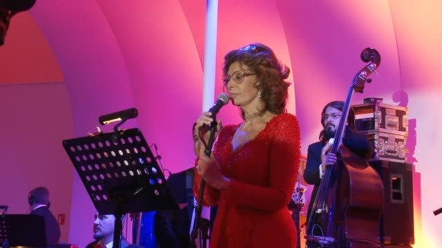 CHYRON Sophia Loren's 80th Birthday Celebration on September 20 2014 in Mexico City Mexico