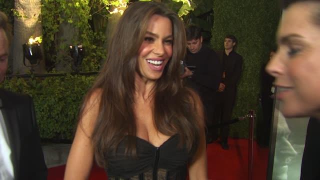Sophia Vergara on the Vanity Fair Oscar party at the 2011 Vanity Fair Oscar Party Arrivals at Hollywood CA