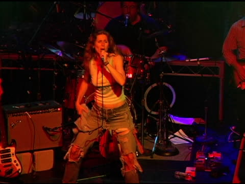 sophie b hawkins performance at the 3rd annual 'night with the friends of el faro' benefit hosted by molly sims on may 13, 2005. - molly sims stock videos & royalty-free footage
