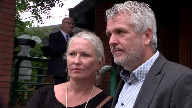 staff member at care facility faces prison for not cooperating with inquest england london wimbledon ext ben bennett standing with his wife nickie - inquest stock videos and b-roll footage