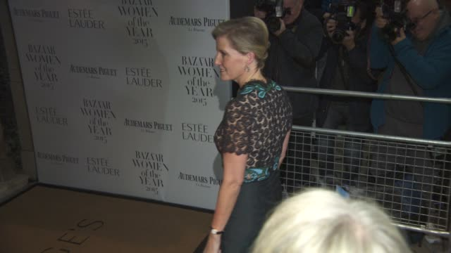 sophie, countess of wessex at harper's bazaar women of the year awards at claridge's hotel on november 03, 2015 in london, england. - sophie rhys jones, countess of wessex stock videos & royalty-free footage
