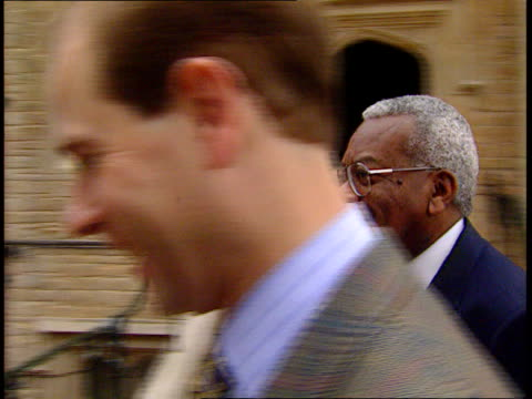 sophie countess of wessex controversy; lib ???: prince edward along with sir trevor mcdonald int prince edward interview sot - talks of his wife's... - トレバー マクドナルド点の映像素材/bロール