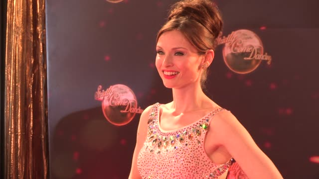 sophie ellisbextor at strictly come dancing at elstree studios on september 03 2013 in borehamwood england - ハートフォードシャー点の映像素材/bロール