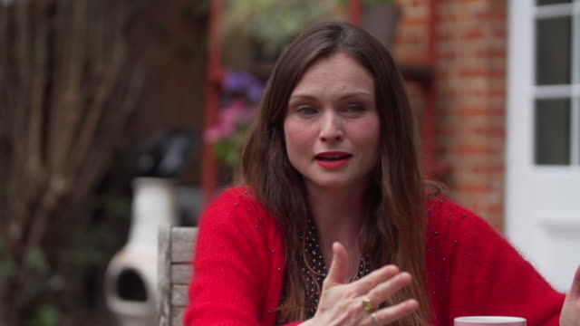 sophie ellisbextor saying a lot of people who work in live music feel in freefall because of job insecurity caused by coronavirus - moving down stock videos & royalty-free footage