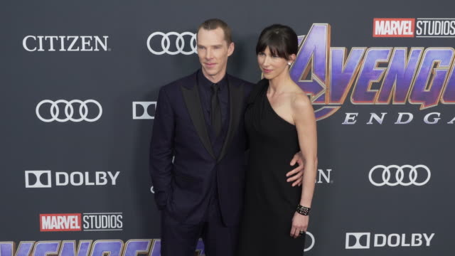 "sophie hunter and benedict cumberbatch at the world premiere of marvel studios' ""avengers: endgame"" at los angeles convention center on april 22,... - benedict cumberbatch stock videos & royalty-free footage"