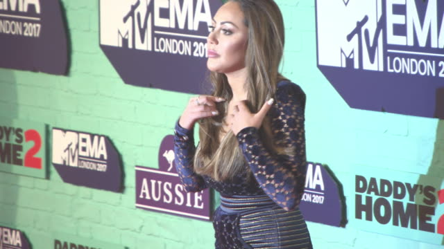 sophie kasaei at mtv ema awards at the sse arena wembley on november 12 2017 in london england - wembley arena stock videos & royalty-free footage