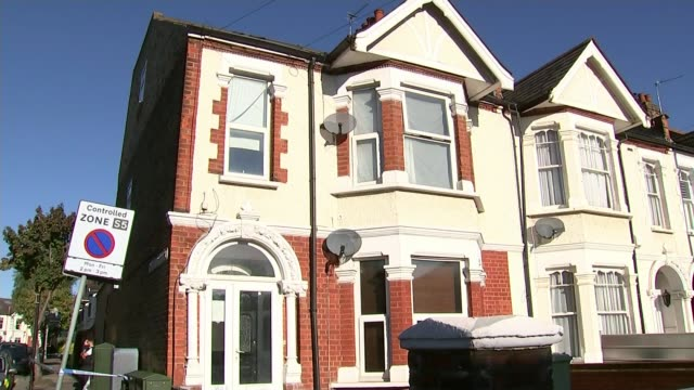 Couple found guilty T22091742 / TX ENGLAND London Southfields EXT Various of house where Sabrina Kouider and Ouissem Medouni lived Floral tributes...