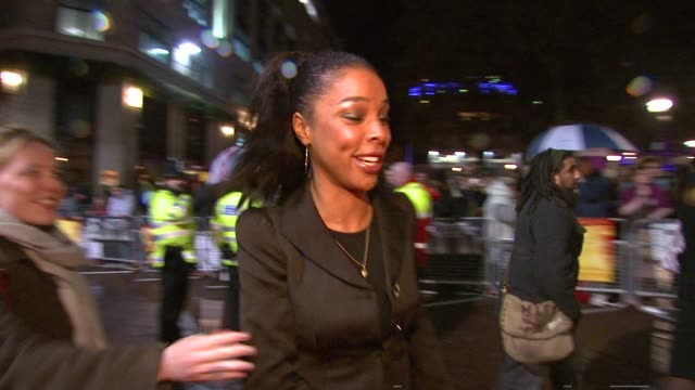 sophie okonedo and lauren shuler donna atmosphere at the london film festival - the secret life of bees premiere at london . - sophie okonedo stock videos & royalty-free footage