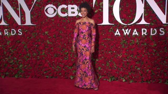 sophie okonedo at 2016 tony awards red carpet at the beacon theatre on june 12 2016 in new york city - 70th annual tony awards stock videos and b-roll footage