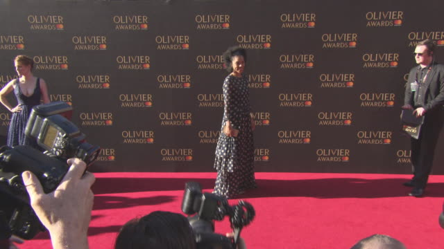 sophie okonedo at the olivier awards with mastercard on april 09 2017 in london england - sophie okonedo stock videos & royalty-free footage