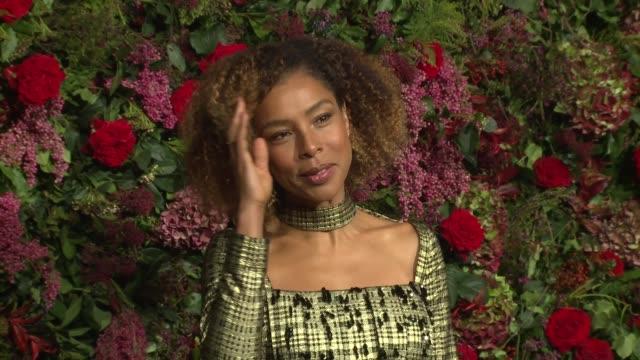 sophie okonedo at theatre royal on november 18, 2018 in london, england. - sophie okonedo stock videos & royalty-free footage