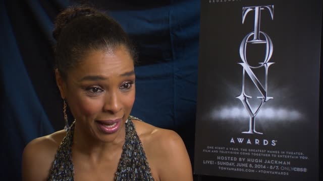 interview sophie okonedo in the winner's circle at 2014 tony awards at radio city music hall on june 08 2014 in new york city - sophie okonedo stock videos & royalty-free footage
