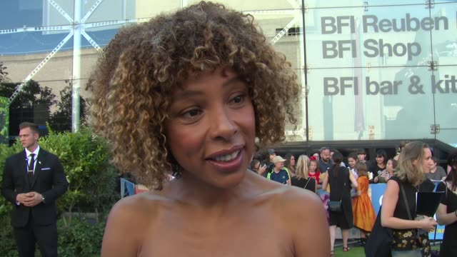 sophie okonedo on her character and becoming a disney actress at bfi southbank on august 05, 2018 in london, england. - sophie okonedo stock videos & royalty-free footage