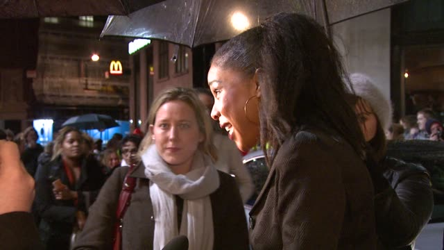 sophie okonedo on singing in the movie her character and the films success at the london film festival the secret life of bees premiere at london - sophie okonedo stock videos & royalty-free footage
