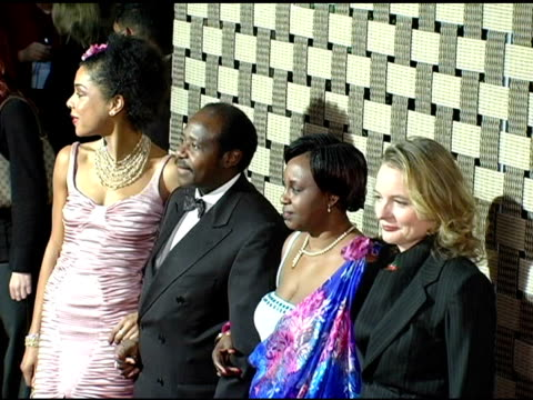 sophie okonedo paul rusesabagina and wife and cara seymour at the 'hotel rwanda' los angeles premiere at the academy theatre in los angeles... - sophie okonedo stock videos & royalty-free footage