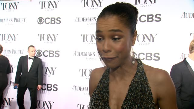 sophie okonedo says winning would be the icing on the cake, says on the actual day of the awards one can relax, says she is going to bed late and... - sophie okonedo stock videos & royalty-free footage