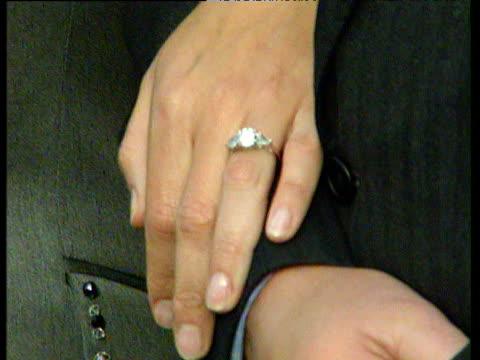 sophie rhys jones' engagement ring engagement of prince edward; 06 jan 99 - sophie rhys jones, countess of wessex stock videos & royalty-free footage