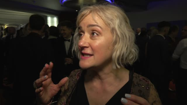 sophie thompson on the awards and being heard at whatsonstage awards on march 01 2020 in london england - presentation stock videos & royalty-free footage