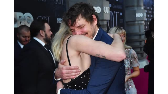 sophie turner and pedro pascal attend the 'game of thrones' season 8 ny premiere on april 3 2019 in new york city - pedro pascal stock videos & royalty-free footage