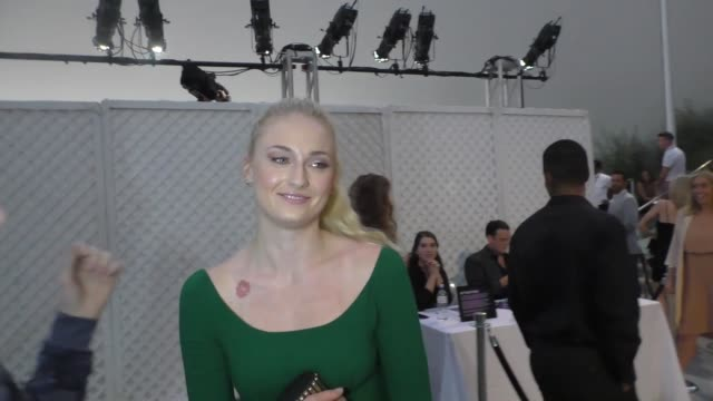 INTERVIEW Sophie Turner talks about her fake tattoos outside the Variety's Power Of Young Hollywood at NeueHouse Hollywood in Celebrity Sightings in...
