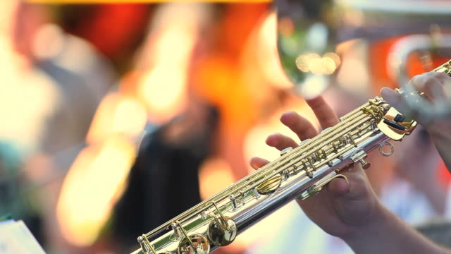 soprano saxophone player (loopable) - brass band stock videos & royalty-free footage