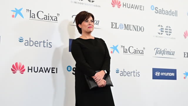 soraya saenz de santamaria attends 'el mundo' newspaper 30th anniversary at westin palace hotel on october 01 2019 in madrid spain - teilnehmen stock-videos und b-roll-filmmaterial