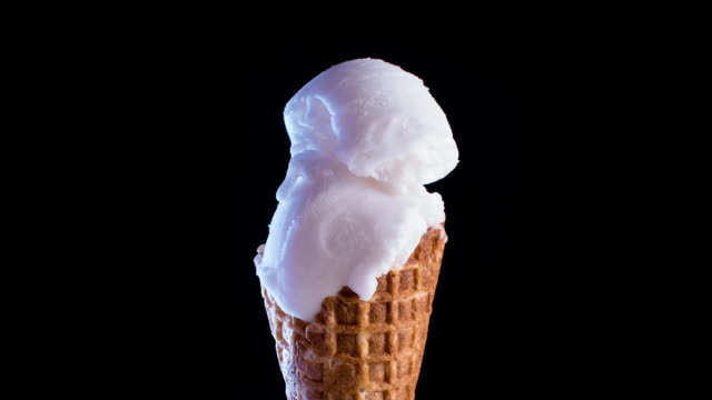 sorbet ice-cream cone melting - ice cream cone stock videos & royalty-free footage
