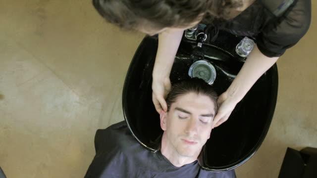 sorenza salon - washing hair stock videos & royalty-free footage