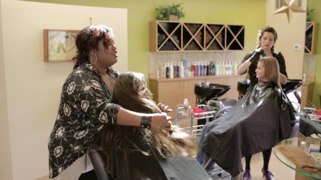 sorenza salon - hairstyle stock videos & royalty-free footage