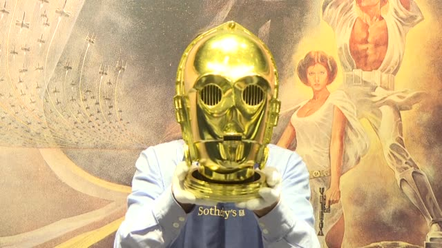 sotheby's previews its second auction dedicated to star wars collectibles titled star wars online - auction stock videos & royalty-free footage