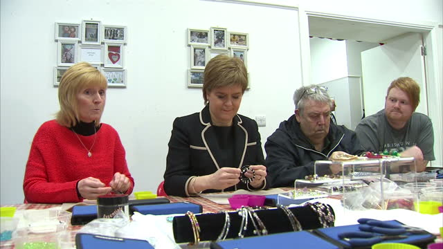 sottish first minister nicola sturgeon revealed a boost of 29 million gbp for scotland's third sector to help organization tackling poverty and... - bracelet stock videos & royalty-free footage