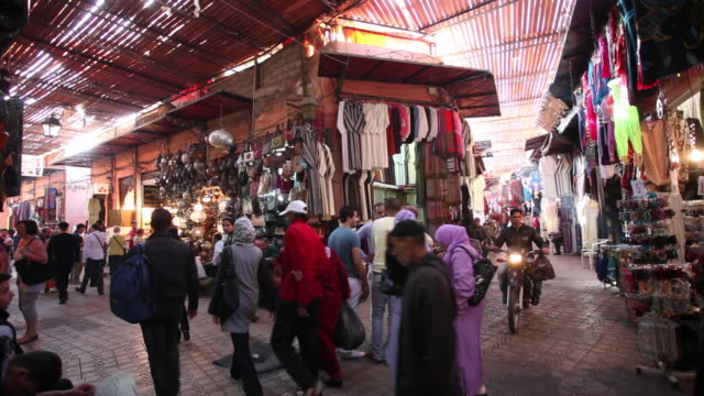 Soukh or market in old city or medina, Marrakech, Morocco