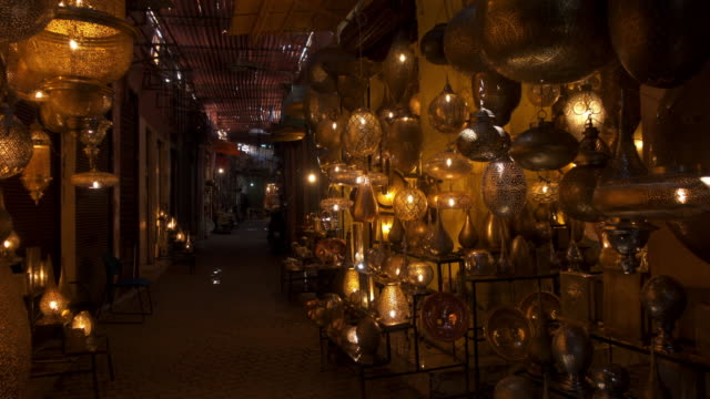 souks in the medina of marrakesh - souk stock videos & royalty-free footage