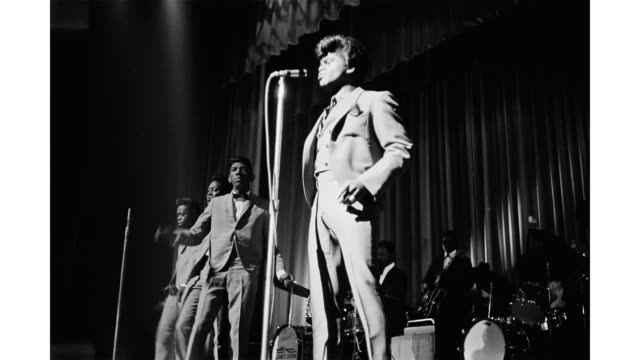 soul singer james brown performs onstage with the famous flames at the apollo theatre in 1964 in new york new york - soul music stock videos & royalty-free footage