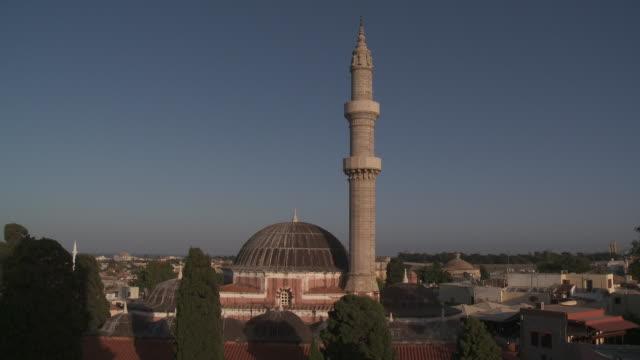 stockvideo's en b-roll-footage met souleiman mosque. rhodes island. - kerktoren