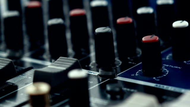sound mixer - radio studio stock videos & royalty-free footage