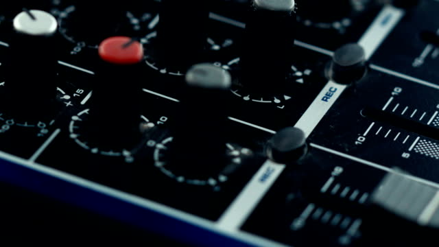 sound mixer - knob stock videos and b-roll footage